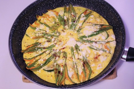 Frittata di fiori di zucca - Zucchini flower omelette | Le Marche and Food | Scoop.it
