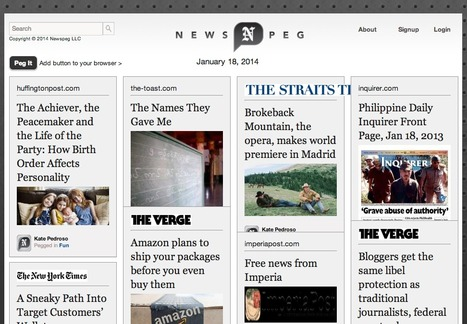 Pinterest for News Is Here: It's Called NewsPeg | Journalism marketplace | Scoop.it