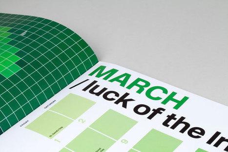 Des calendriers graphiques et originaux pour l'année 2013 | Un jour, un design | Scoop.it