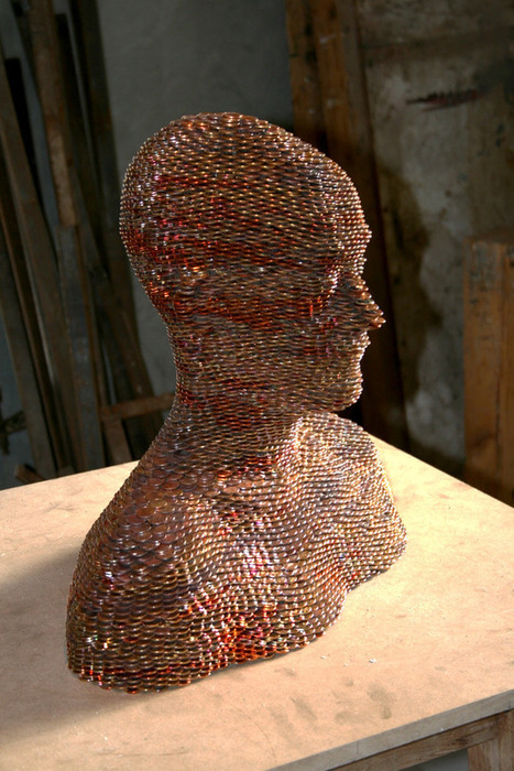 Sculptures Made from Stacked and Welded Euros | No. | Scoop.it