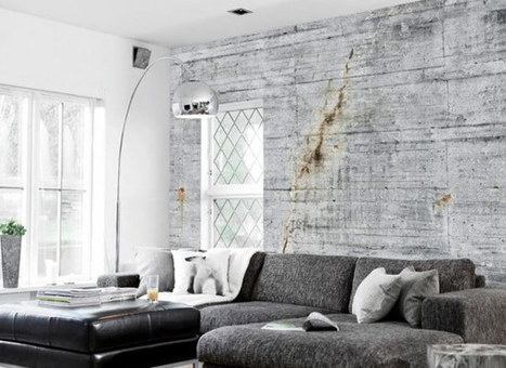 Concrete Wallpapers for An Original Industrial Look by Tom Haga   Interior & Decor   Scoop.it
