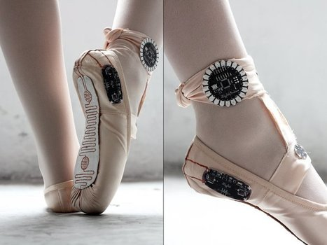 Ballet Slippers That Make Drawings from Movement | Make: | Arduino, Netduino, Rasperry Pi! | Scoop.it