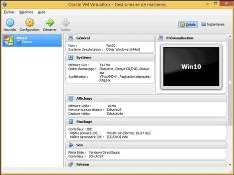 Installer Windows 10 sur une machine virtuelle avec VirtualBox [Tutoriel] | Time to Learn | Scoop.it