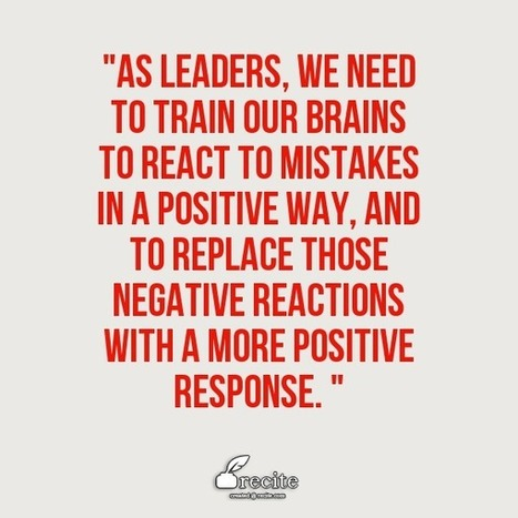 "Say ""thank you"" to mistakes 