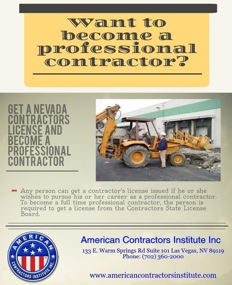 Want to become a professional contractor? by colincharles | American Contractors Institute | Scoop.it
