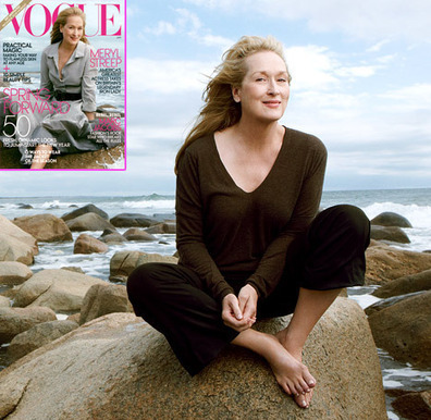 PICS: Meryl Streep, 62, Stuns in First-Ever Vogue Cover | Celebrity English | Scoop.it