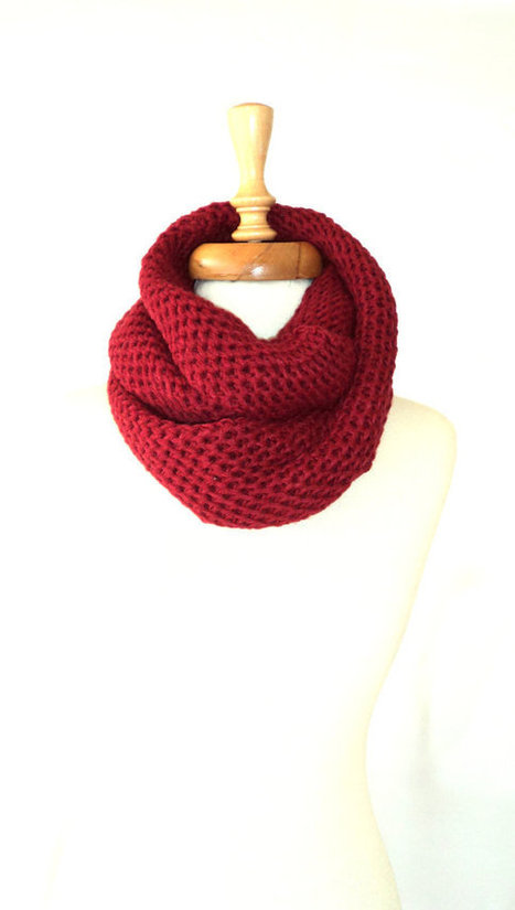 ON SALE, Scarf ,Knitting Scarf ,Women Scarf, Winter Scarf, Burgundy Scarf, Mothers Day | bestbazaar | Scoop.it