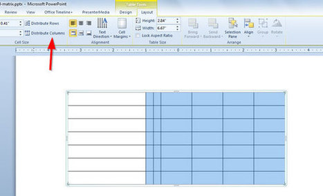 RACI Matrix in PowerPoint 2010 using Tables & Shapes   PowerPoint Presentation   Wiki_Universe   Scoop.it