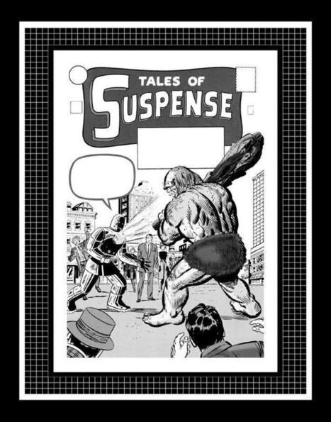 """Jack Kirby Tales Of Suspense #40 Rare Production Art Cover Monotone 