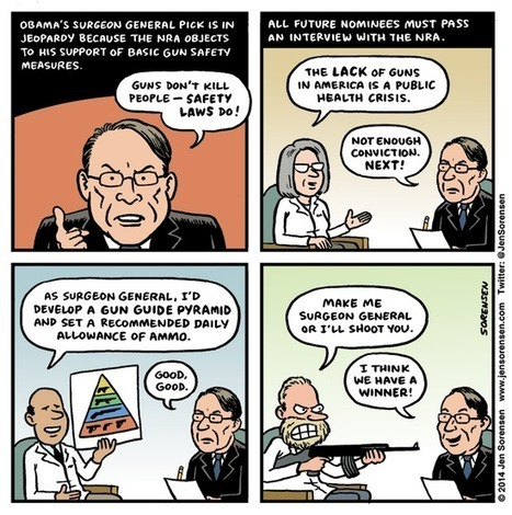 Cartoon: The NRA interviews Surgeon General candidates | email | Scoop.it