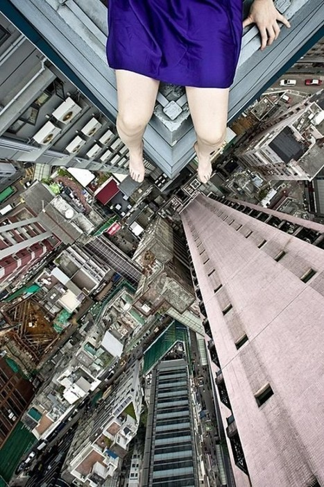 Fearless Artist Photographs Herself in the Most Precarious Positions | Strange days indeed... | Scoop.it