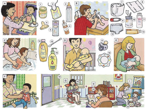 Baby care items vocabulary list PDF - Learning English vocabulary and grammar | Learning Basic English, to Advanced Over 700 On-Line Lessons and Exercises Free | Scoop.it