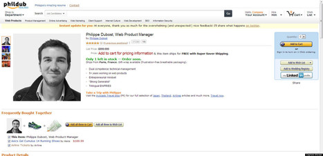Un CV comme une page d'Amazon | Actualité diverse & variée | Scoop.it