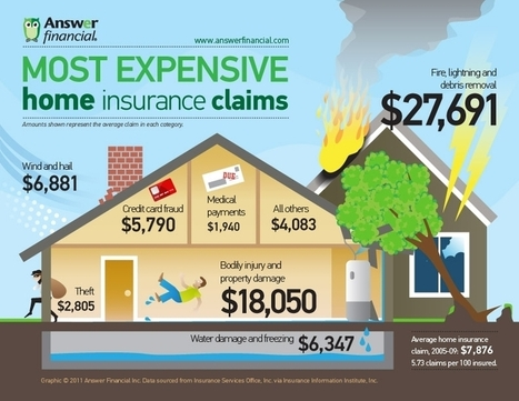 Case Study: Most Expensive Home Insurance Claims | Infographics | All Infographics | Scoop.it