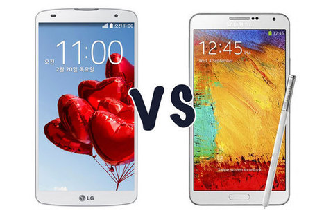 Samsung Galaxy Note 3 vs. LG G Pro 2 – A Quick Comparison | Mobile News | Scoop.it