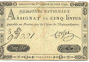 Assignat de 5 Livres - 27 juin 1792 | Rhit Genealogie | Scoop.it