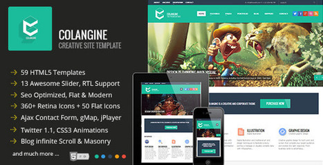 Colangine Creative Flat HTML5 Template RIP Download | PremiumTemplatesDownload | PremiumTemplatesDownload | Scoop.it