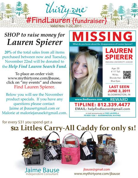 Help end the 5 month search for Lauren Spierer - Show us how you shop til' you drop OR donate your social media efforts to help us #FindLauren! | Lauren Spierer | Scoop.it