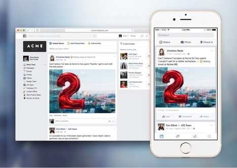 Facebook Unveils Facebook At Work, Lets Businesses Create Their Own SocialNetworks | Infography 2.0 | Scoop.it