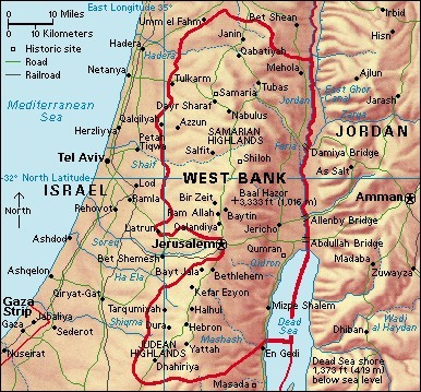 Map of the West Bank | Eichele West Bank | Scoop.it