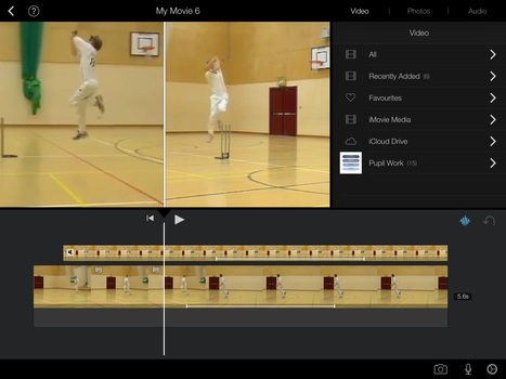Using iMovie App in Physical Education Lessons - November 2014 | Apple Devices in Education | Scoop.it
