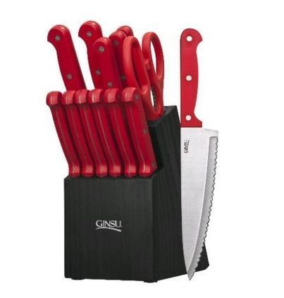 Ginsu 3887 Essential Series Cutlery/knife Set with Black Block Red | Home and Business | Scoop.it