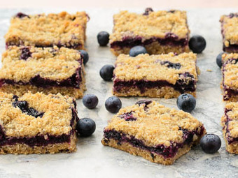 Blueberry Oatmeal Crumb Bars | As You Want Dishes | Scoop.it