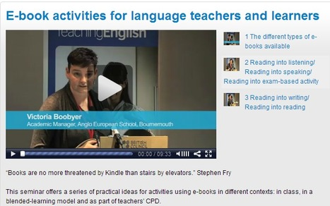 E-book activities for language teachers and learners | EnglishAgenda | British Council | Mobile and Blended Learning | Scoop.it