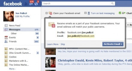 Facebook Takes on Google with Facebook Email and Texting | Facebook Tricks | Scoop.it
