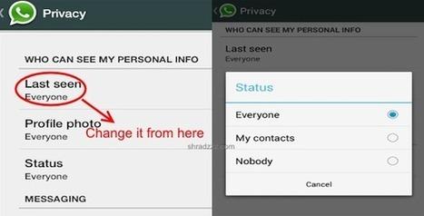 Hide last seen on Whatsapp from unwanted users | Reviews it | Scoop.it