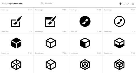 iconmonstr base d'icones monochrome avec couleur ajustable   Freewares   Scoop.it