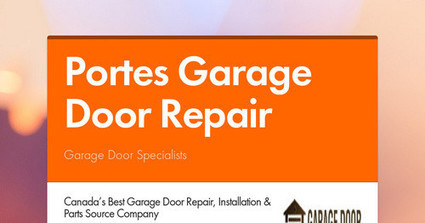 Best Garage Door Maintenance and Installation Service | Garage Door Specialists | Scoop.it