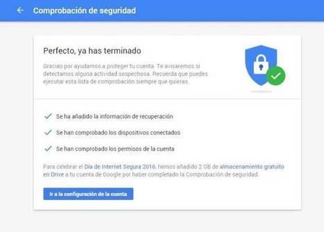 Google vuelve a regalar 2 GB en Drive por realizar la comprobación de seguridad | Las TIC en el aula de ELE | Scoop.it