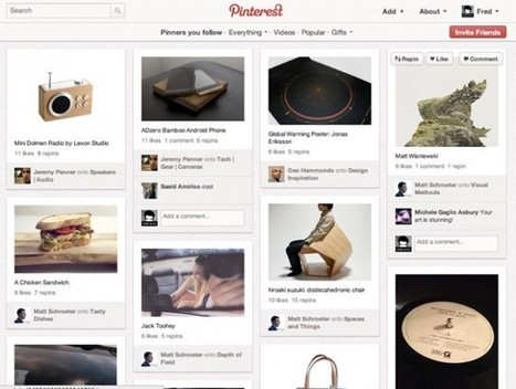 Pinterest épingle le web (+ invitations) via Fredzone | SocialWebBusiness | Scoop.it