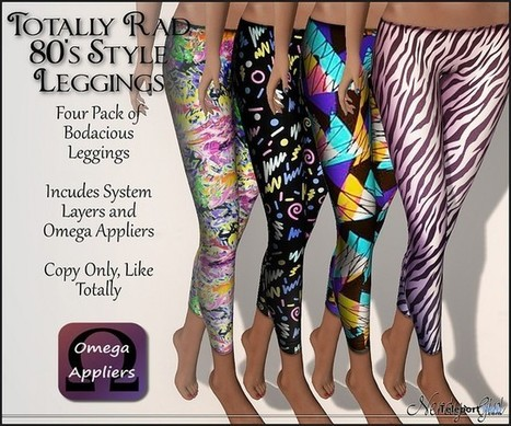 Totally Rad 80's Style Leggings Group Gift by Nerdy Girl | Teleport Hub - Second Life Freebies | Second Life Freebies | Scoop.it