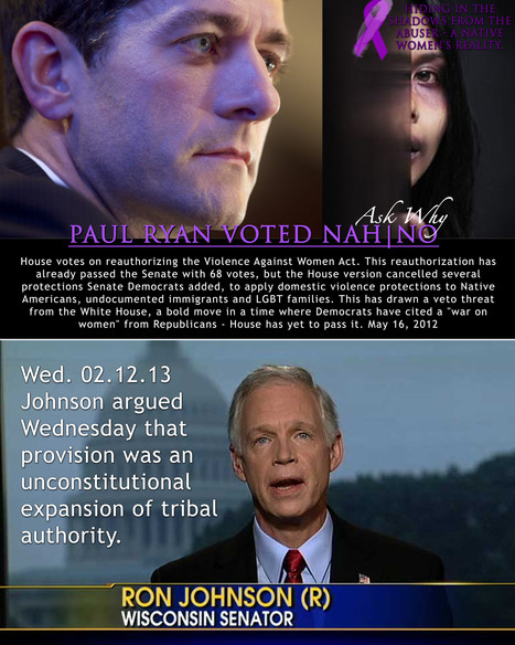 Sen. Ron Johnson calls Violence Against Women bill unconstitutional - JSOnline | IDLE NO MORE WISCONSIN | Scoop.it