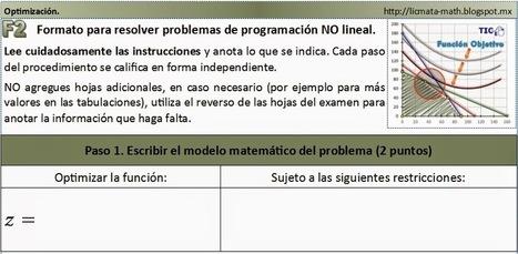 Matemáticas con Tecnología: Nonlinear programming template. | Mathematics learning | Scoop.it