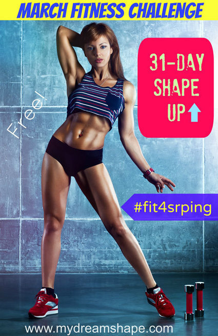 March 2014 Fitness Challenge - 31-Day Workout Calendar | My Dream Shape! | Fitness | Scoop.it