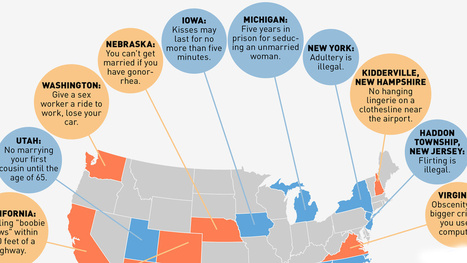 A Map of the Weirdest Sex Laws in the United States | Strange days indeed... | Scoop.it