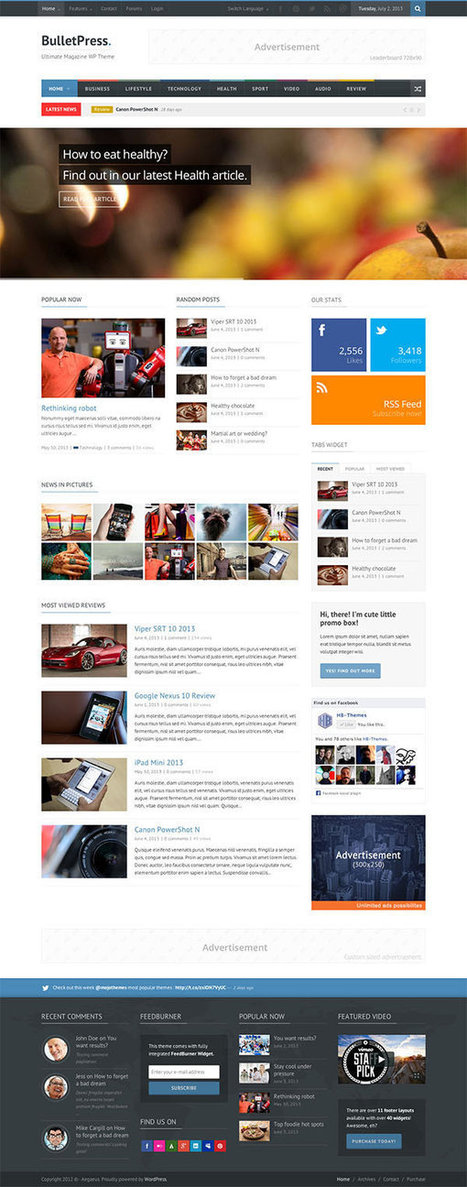 Great Wordpress Magazine Themes For 2014 | Best Wordpress Themes - WPVKP | Scoop.it