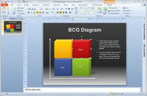 Free BCG PowerPoint Diagram for Presentations | Diagrams | Scoop.it