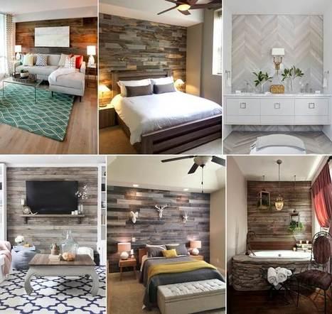 16 Wonderful Wood Accent Wall Designs | Amazing interior design | Scoop.it