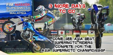 """Trakarn"" on his way to FIM Asia SuperMoto Championship 2012 in Malaysia 