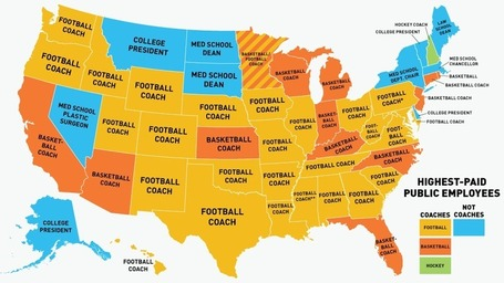 Is Your State's Highest-Paid Employee A Coach? (Probably) | Human Geography Too | Scoop.it