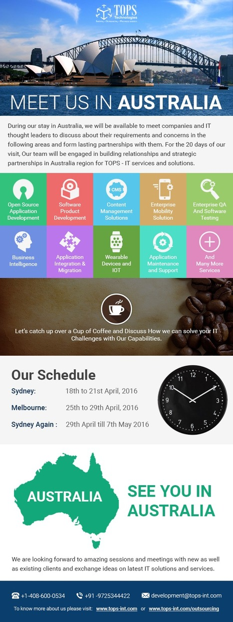 Meet TOPS in Australia and Grow with us | IT Traininig | Scoop.it