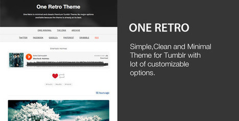 One Retro – Responsive and Minimal Theme Download | Tumblr Templates Download | Scoop.it