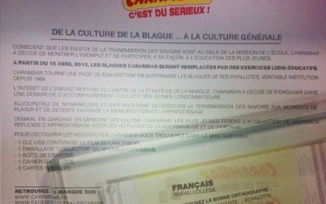 Les blagues Carambar, c'est fini ! | Carambar - buzz | Scoop.it