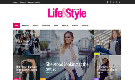 Life&Style Blogger Template | Blogger themes | Scoop.it