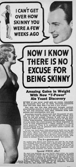 Vintage Weight Gain Ads II, 1908-1984 - Retronaut | Socialart | Scoop.it