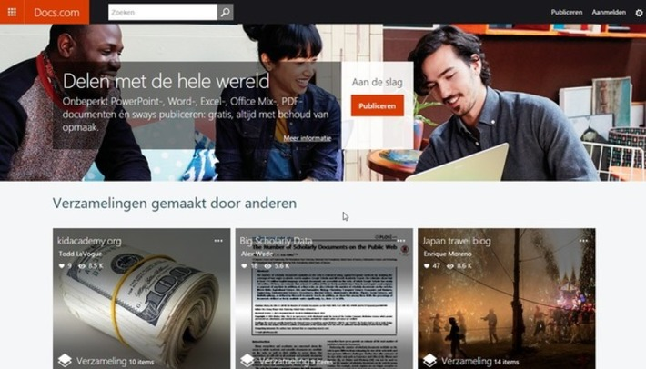 Edu-Curator: Microsoft Docs.com: gratis webtool om Office-documenten online te publiceren en te delen | Educatief Internet - Gespot op 't Web | Scoop.it